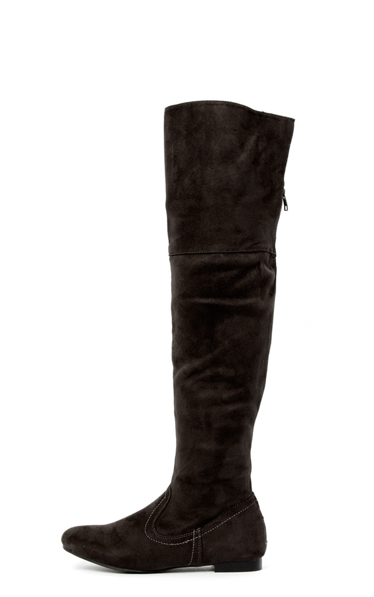 Jadie Black Suede Over The Knee Boots 1