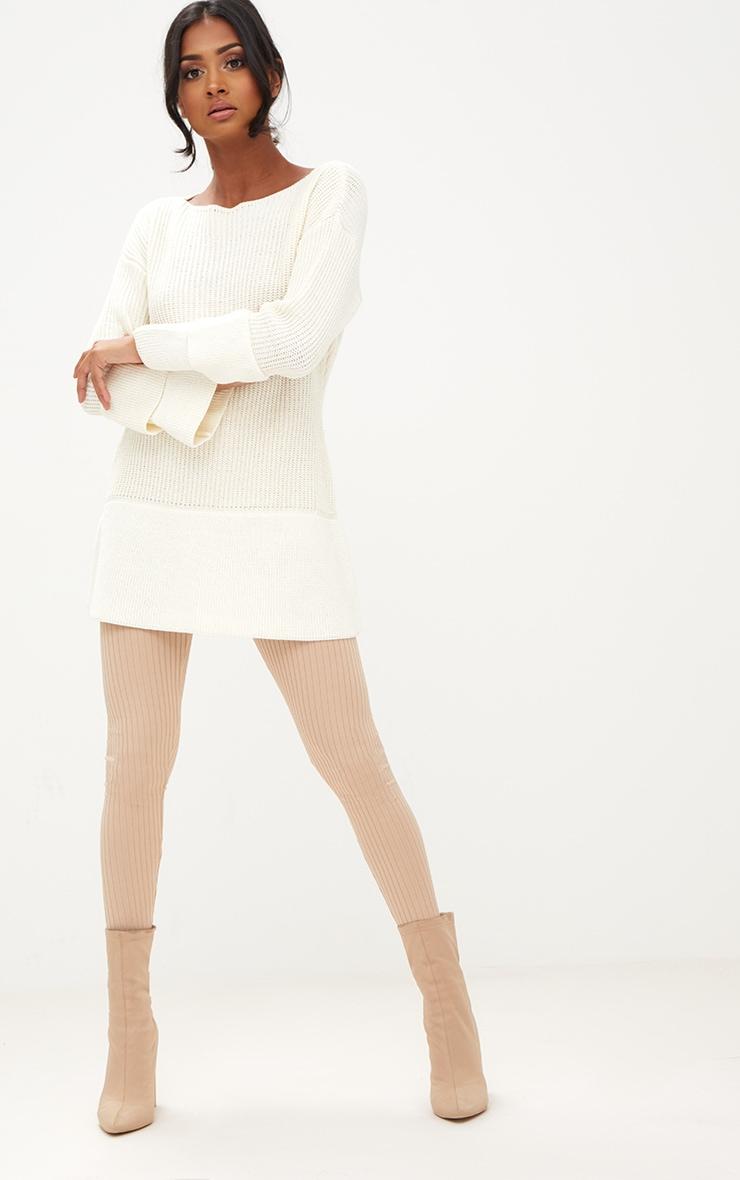 Cream Frill Sleeve Knitted Jumper 4
