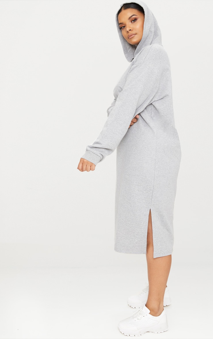 Plus Grey Marl Midi Sweater Dress 4