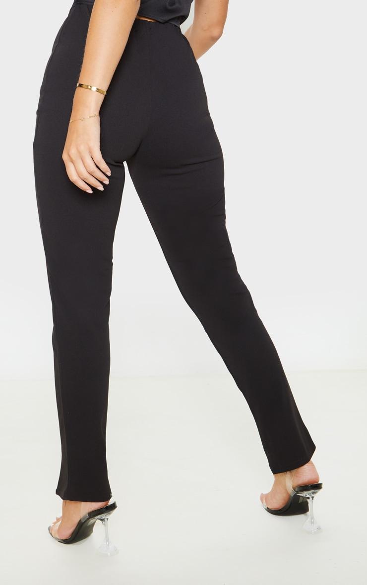 Black Split Hem Front Pants 4