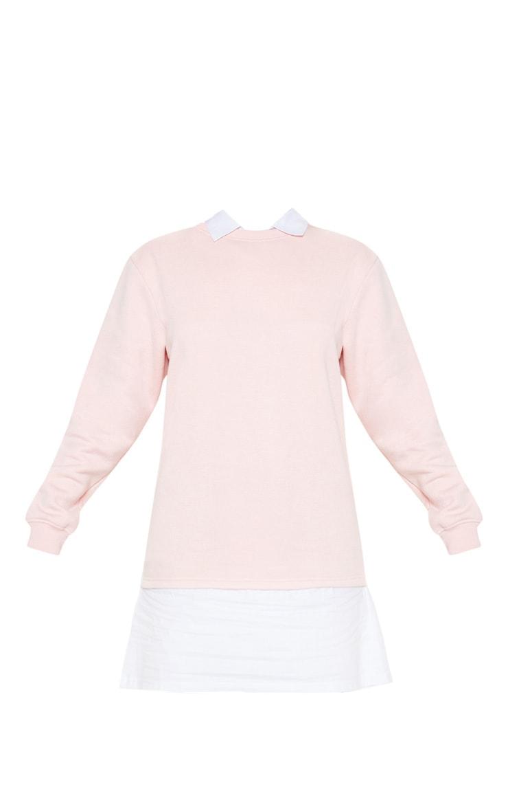 Baby Pink Shirt Collar Jumper Dress 3