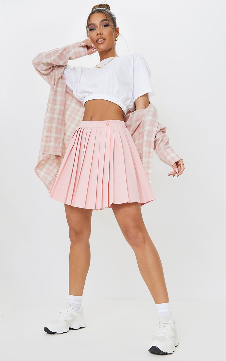 Bubblegum Pink Peach Skater Skirt 1