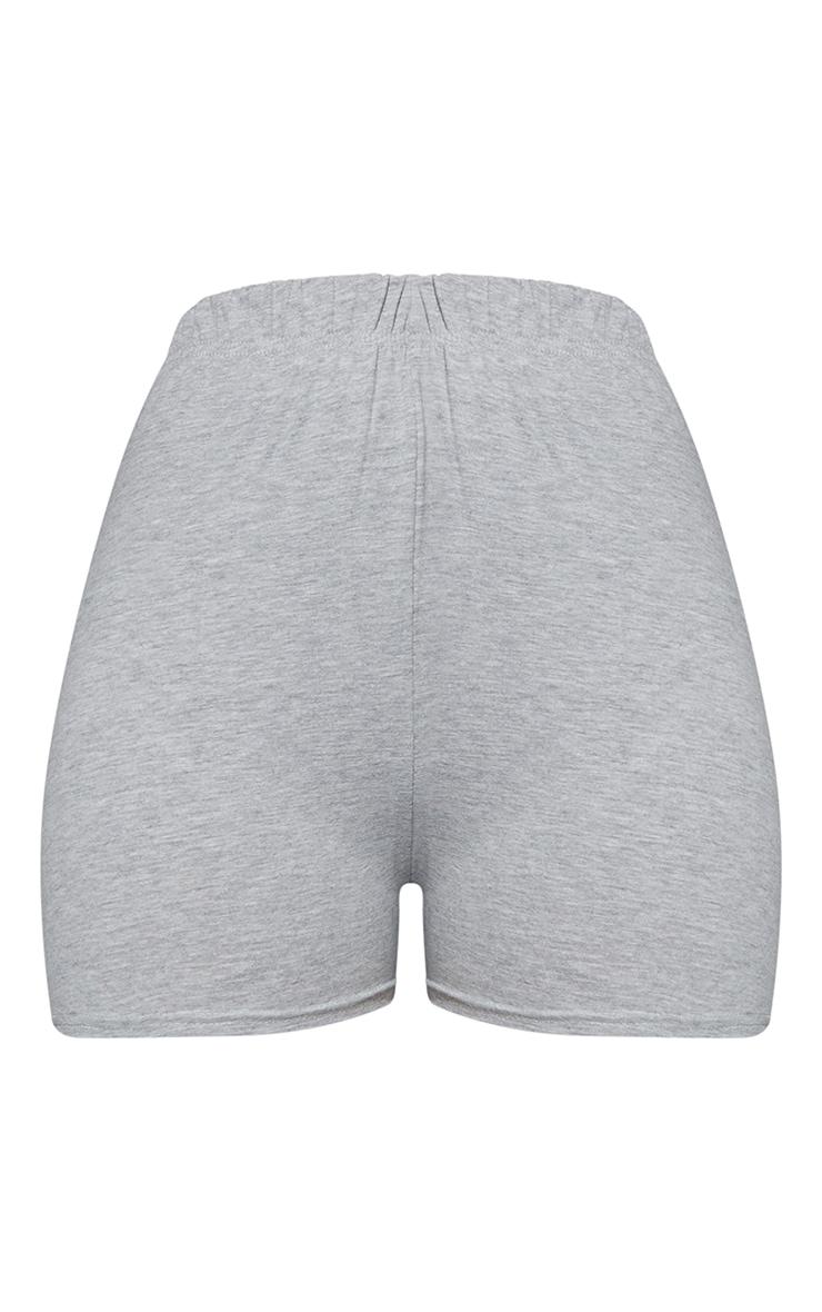 Basic Grey Cotton Blend High Waist Hot Pants 6