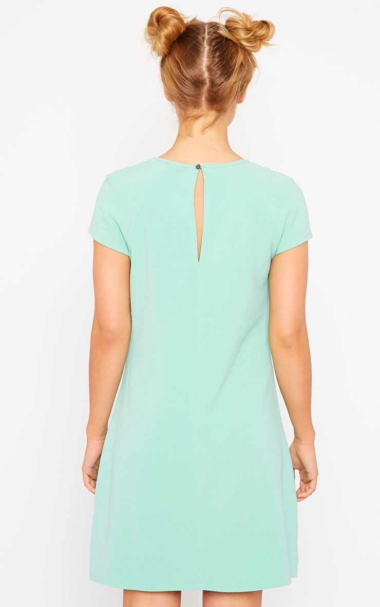 Sabra Mint Waffle Loose Fit Shift Dress 2