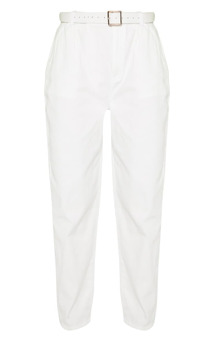 White Oversized Balloon Mom Jean 3