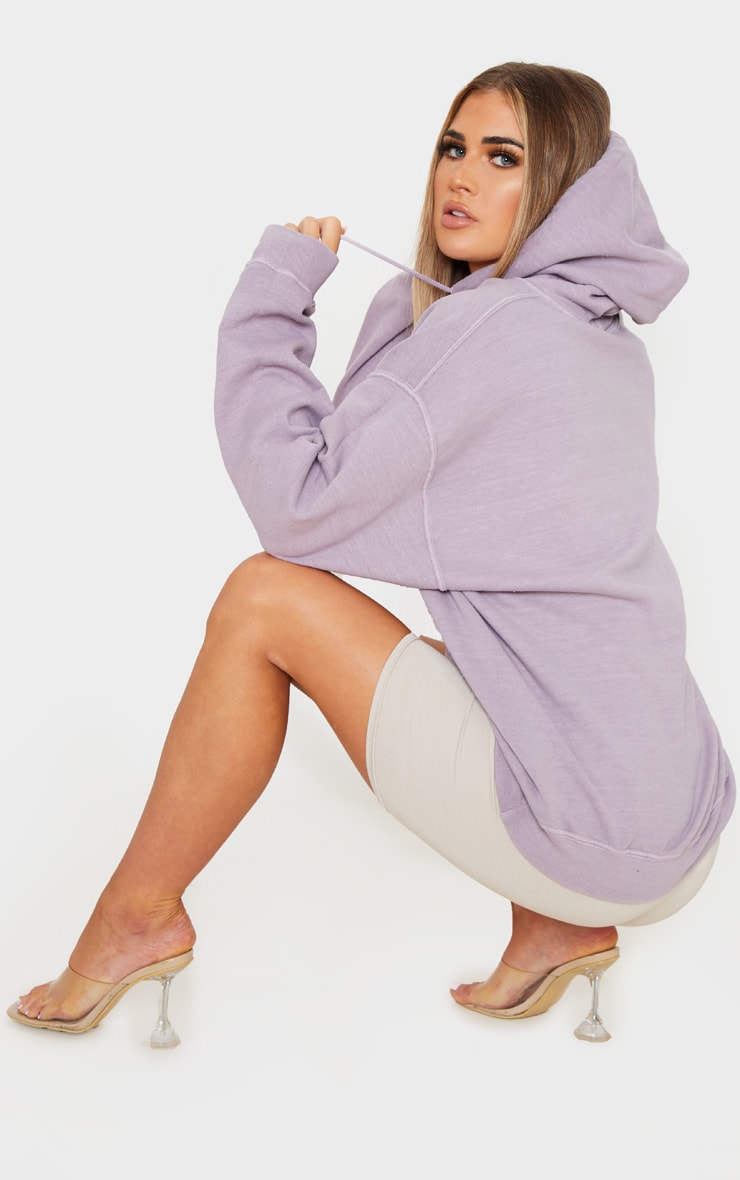 Lilac Washed Oversized Hoodie 2