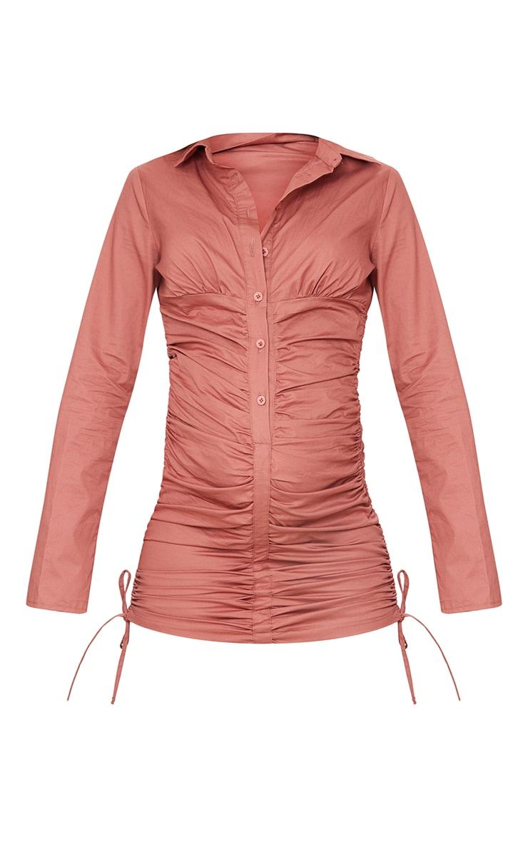 Maternity Rose Ruched Bump Shirt Dress 5