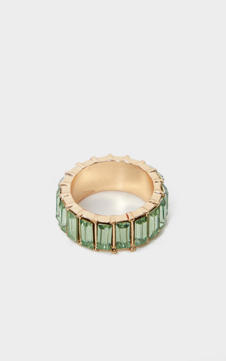 Pastel Green Eternity Band Ring 2
