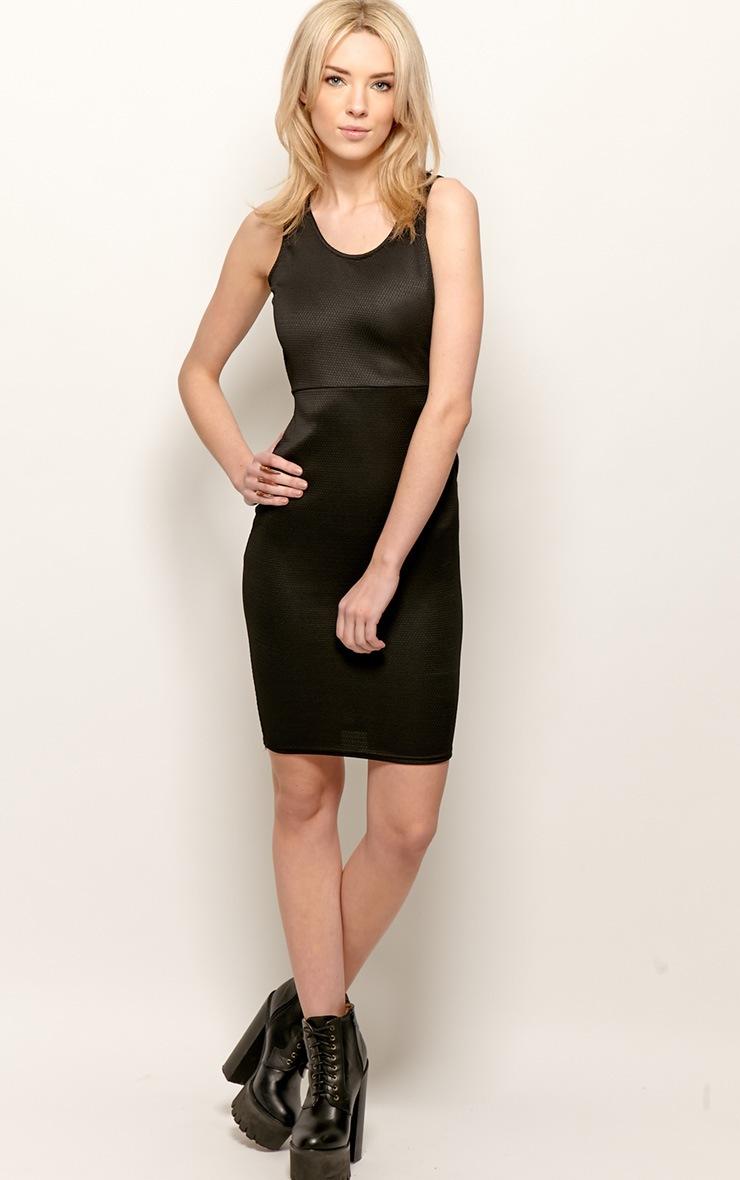 Zelia Black Backless Midi Dress 4