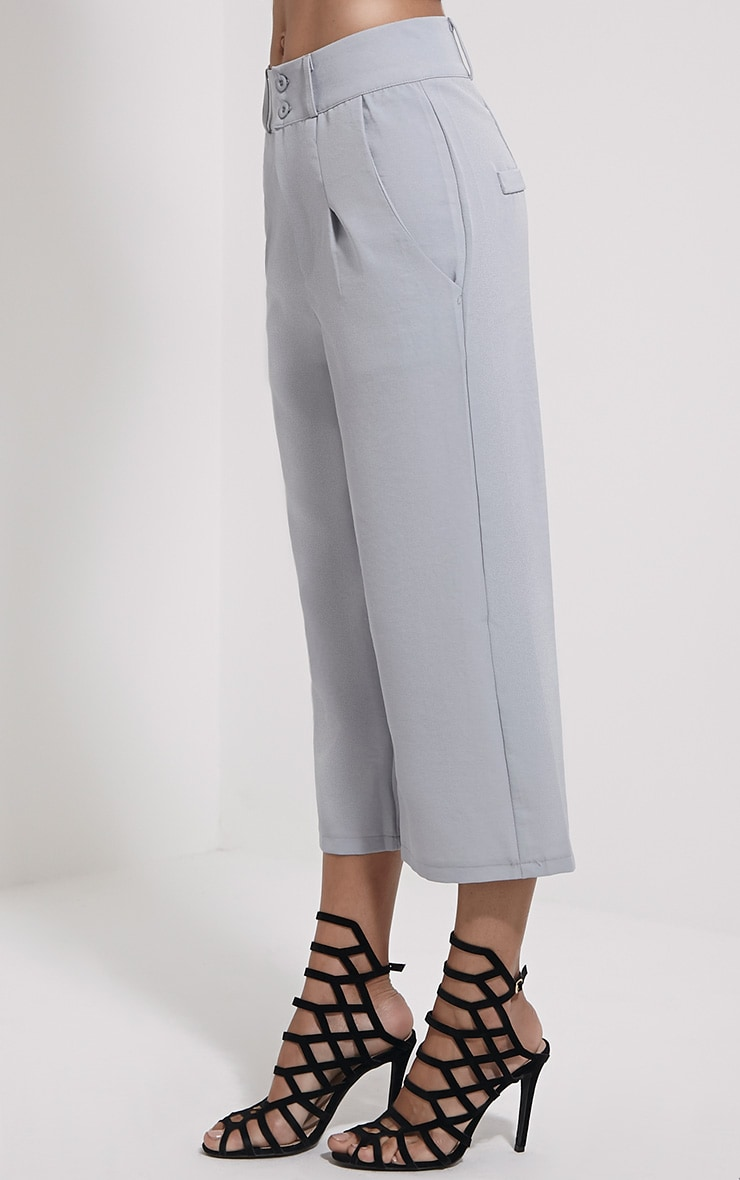 Harlow Grey High Waisted Culottes 3