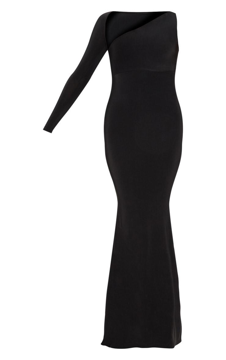 Black Wrap Sleeve Maxi Dress 3