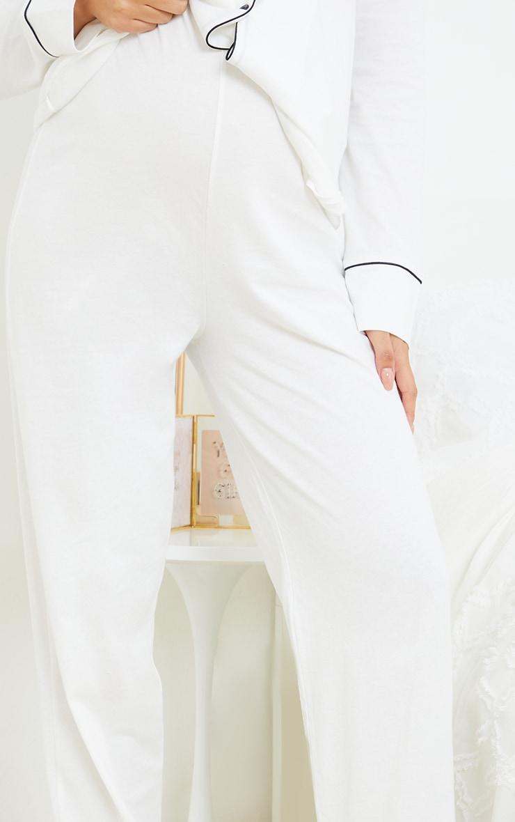 Maternity White Wide Leg PJ Pants 4