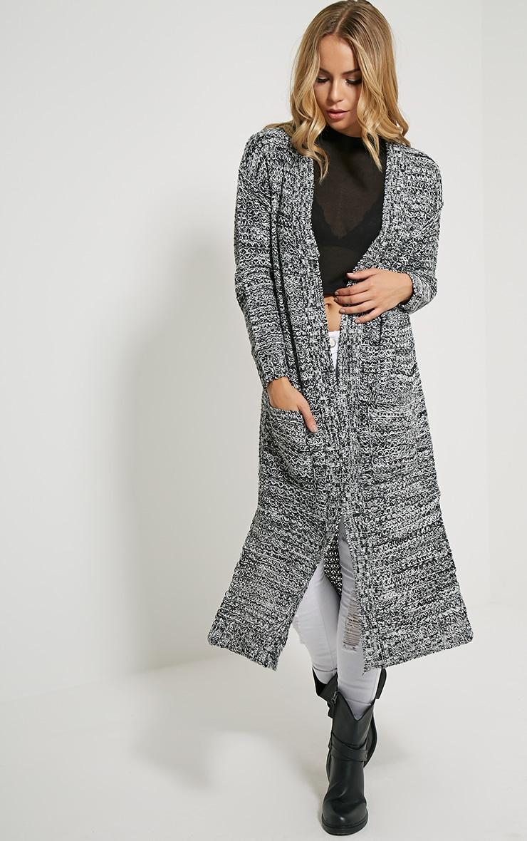 Hadley Black Longline Knitted Cardigan 1