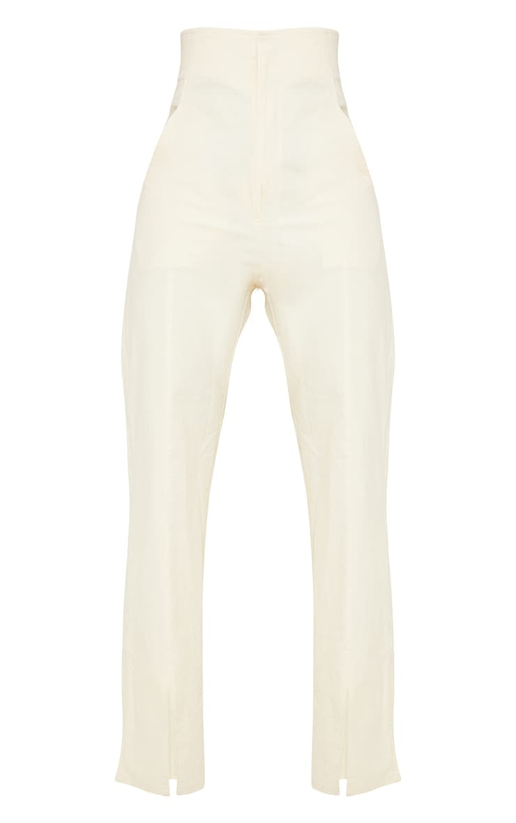 Tall Stone High Waisted Seam Detail Trousers 5
