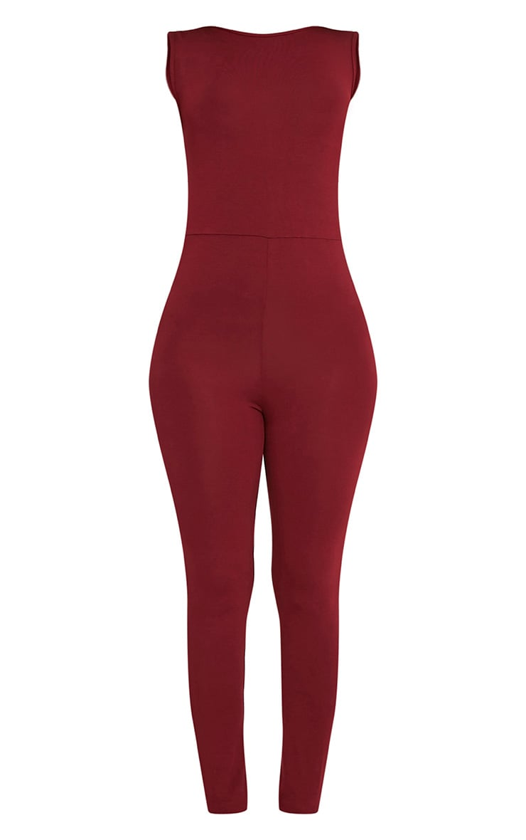 Elena Wine Strap Back Jumpsuit 3
