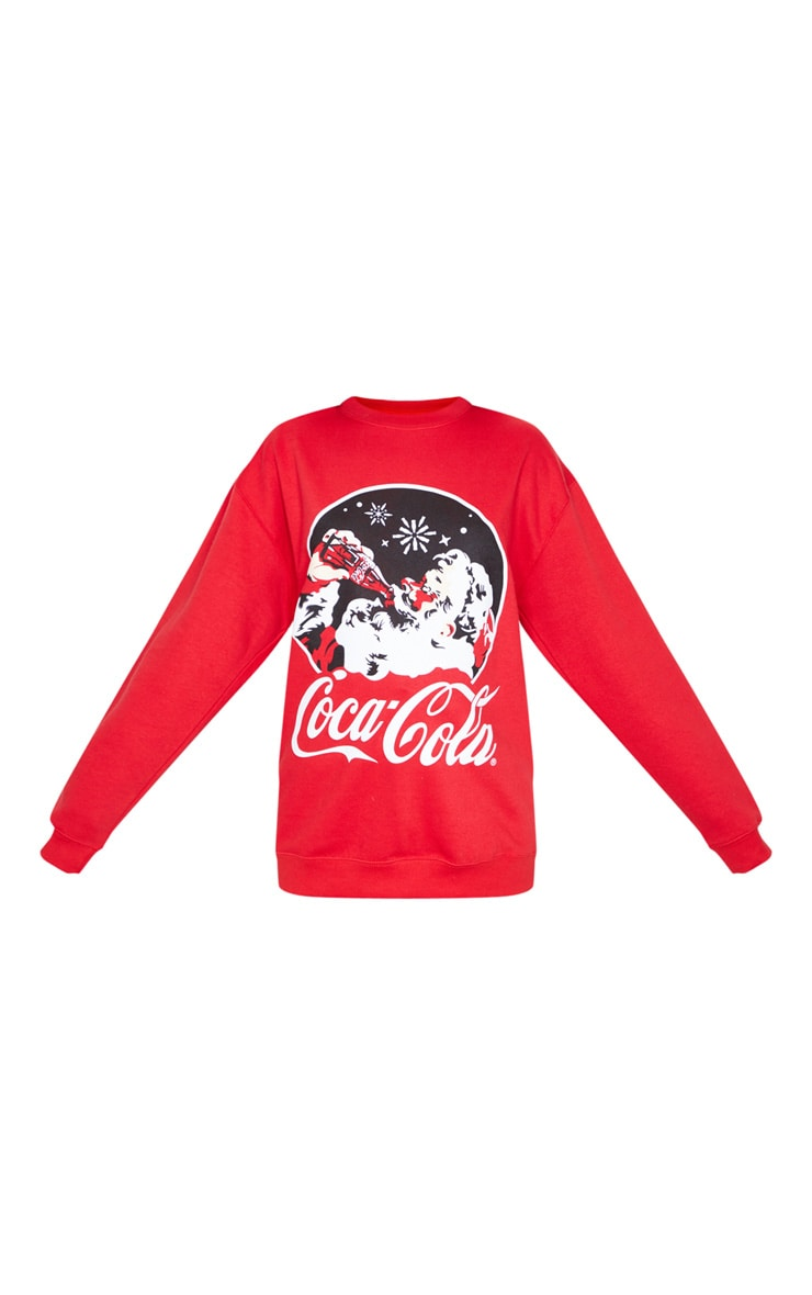 Red Coca Cola Christmas Printed Sweater 3