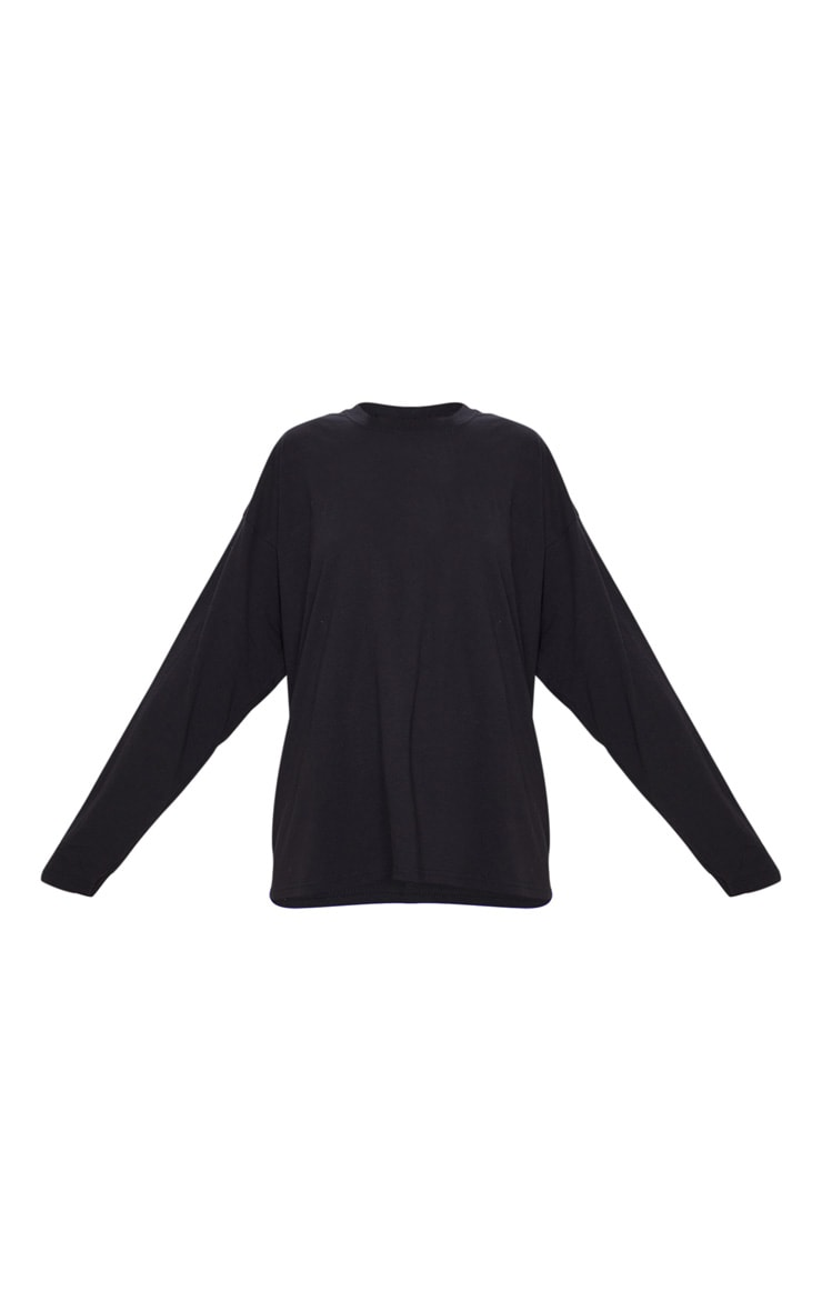 Black Oversized Boyfriend Long Sleeve T Shirt 5