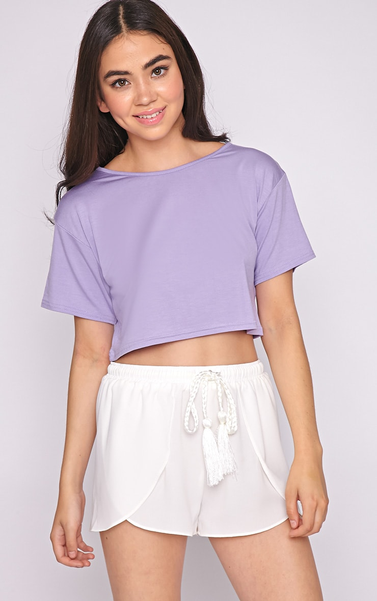 Lucille Lilac Boyfriend Crop Top 4