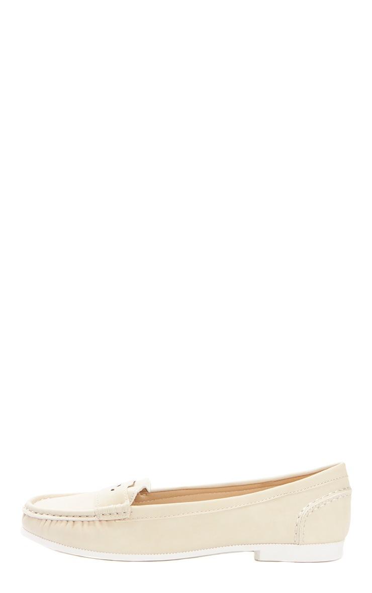 Greta Beige Suede Loafer  1