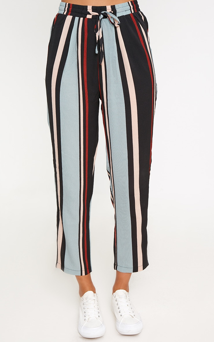 Blue Stripe Casual Trousers 2