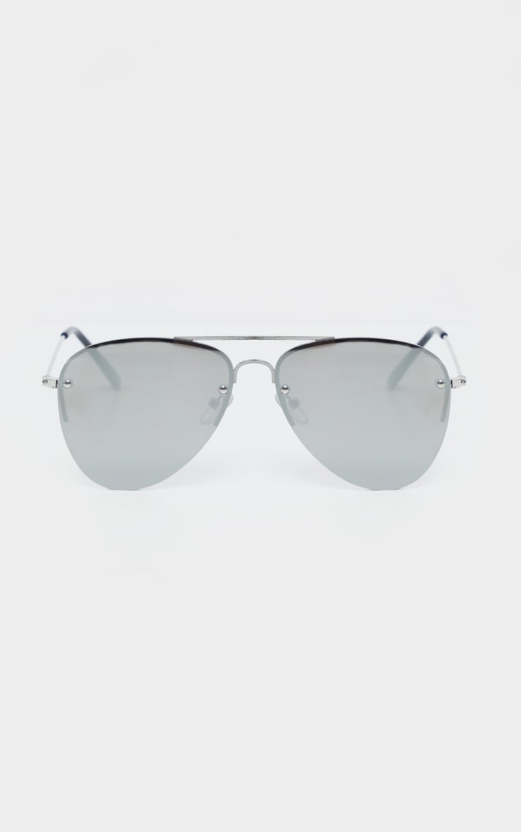Silver Revo Aviator Sunglasses  2