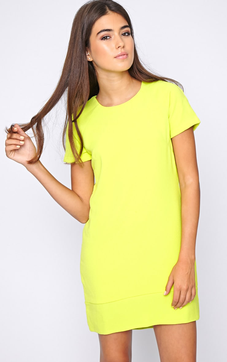 Amelia Lime Shift Dress 1