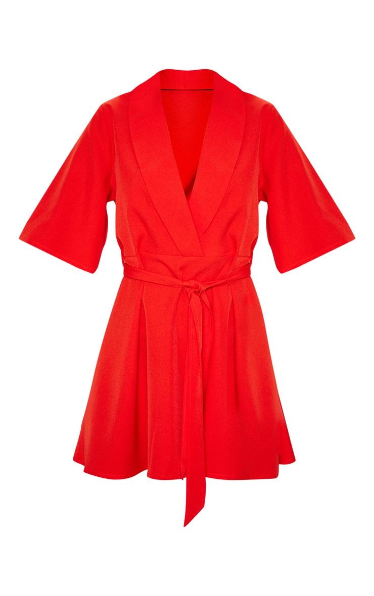 Red Tie Tea Dress 3