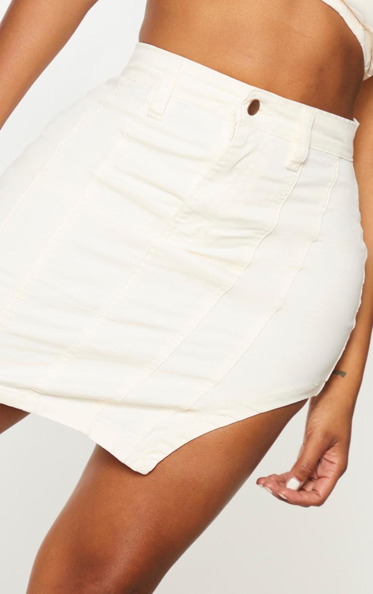 Shape - Jupe en jean écru à ourlet arrondi détail coutures 4