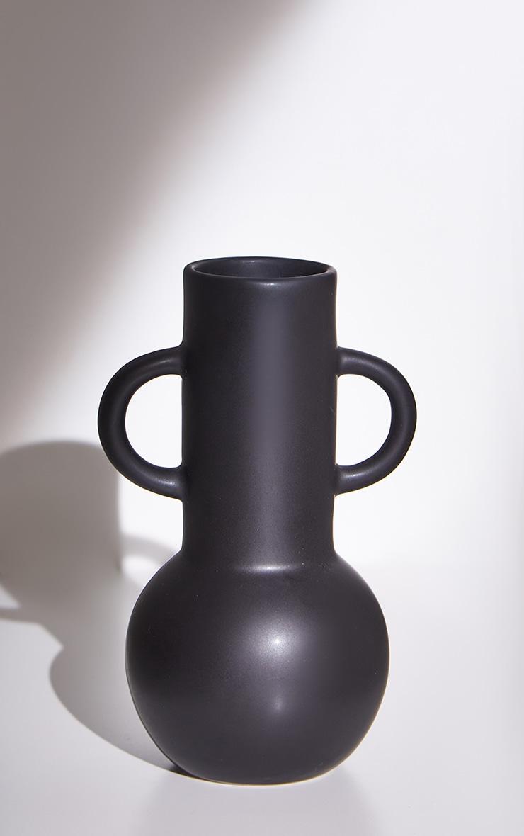 Black Large Amphora Vase 5