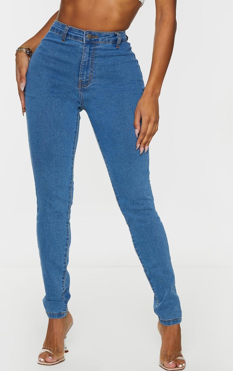 Shape Mid Wash Disco Skinny Jeans 2