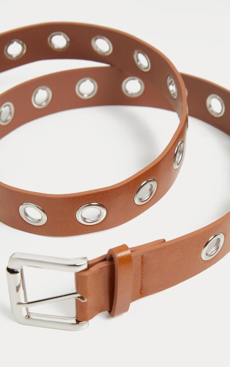 Plus Tan Eyelet Belt 4