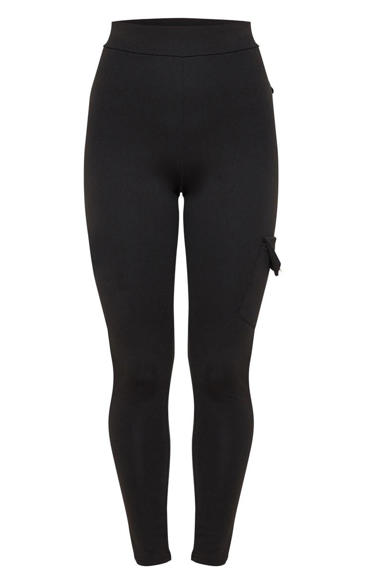 Black Scuba Pocket Detail Cargo Pants 3