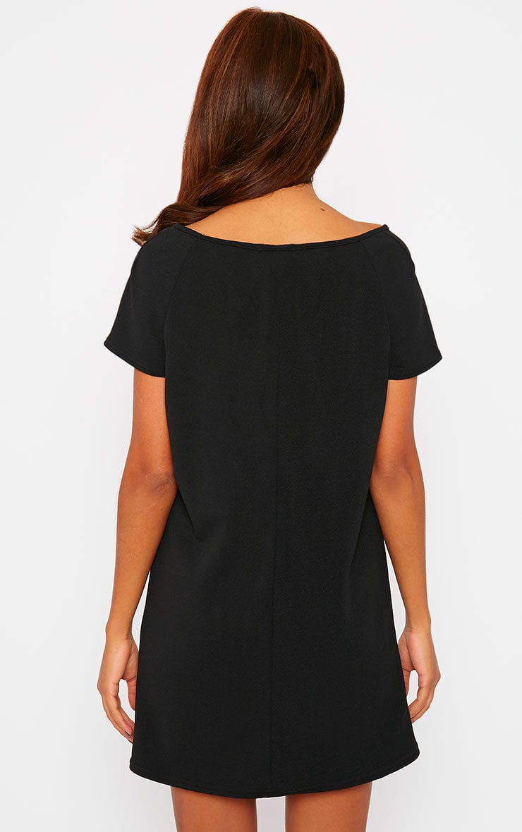 Camila Black Loose Fit Shift Dress 2