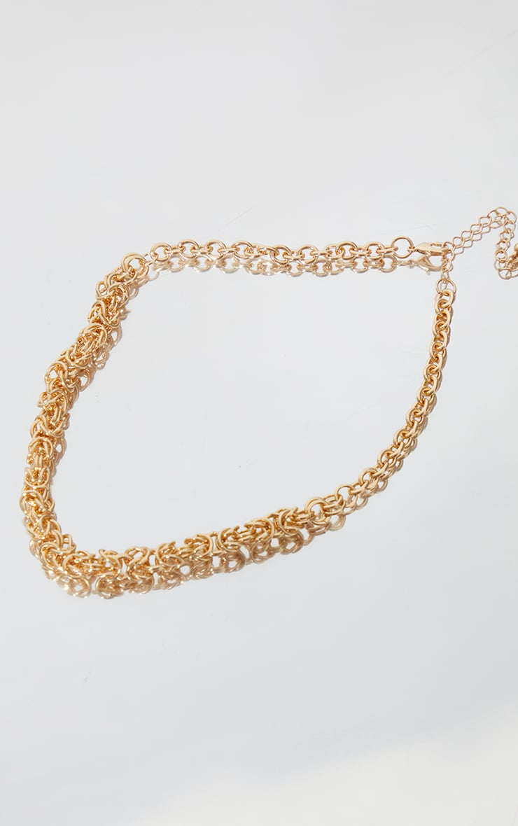 Gold Mesh Rope Chain Necklace 3