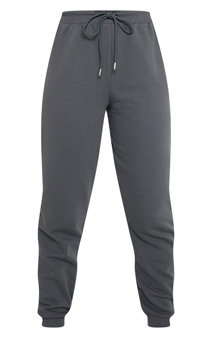 Charcoal Jersey Lounge Skinny Track Pants  5