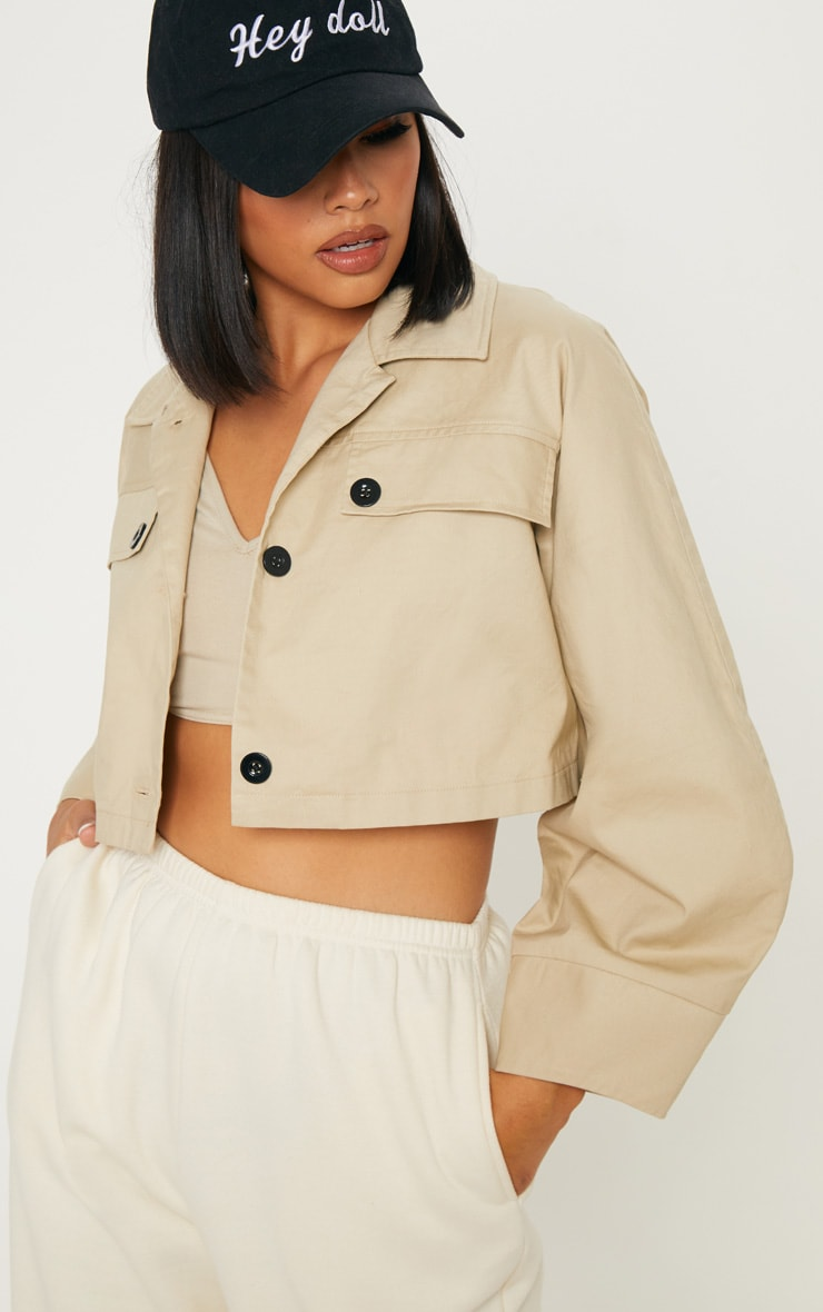 Stone Crop Wide Sleeve Utility Jacket