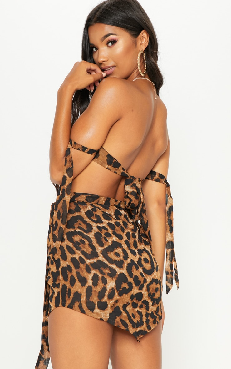 Tan Leopard Bandeau Handkerchief  Top 2
