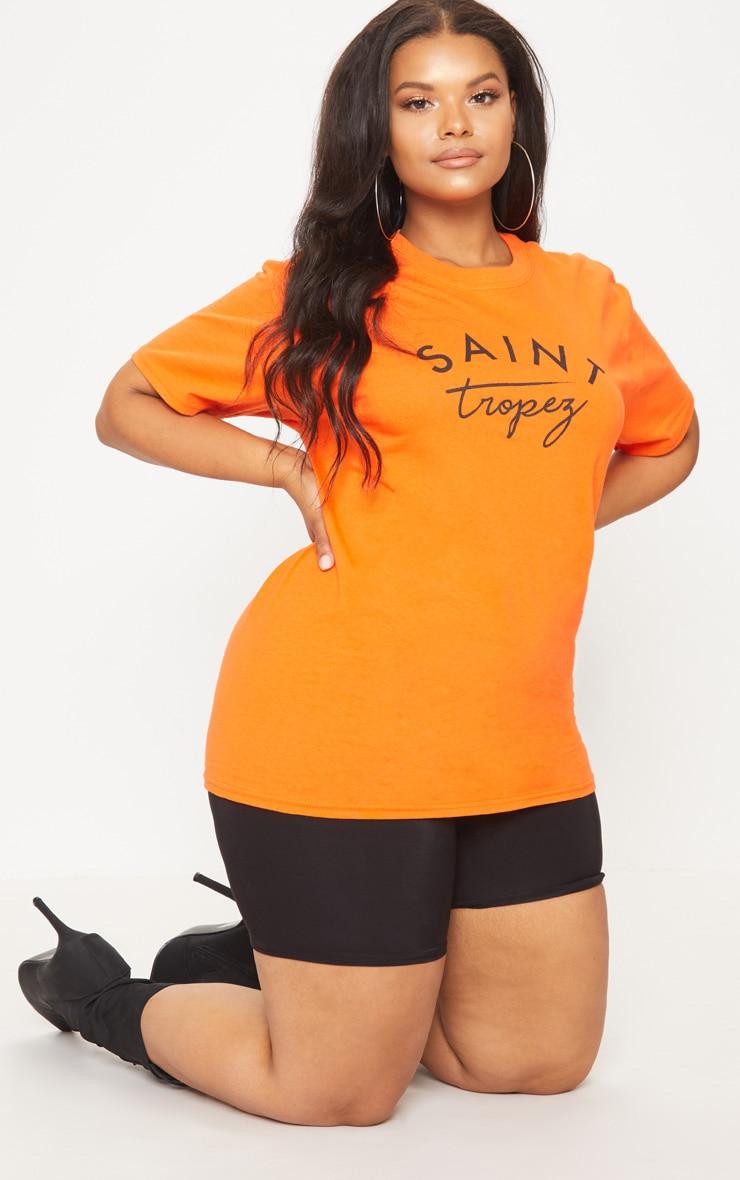 Plus Orange Saint Tropez T Shirt 4