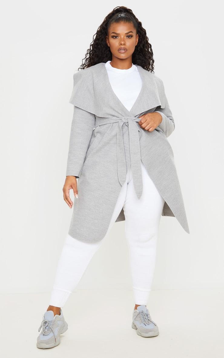 PLT Plus - Manteau gris effet cascade 1