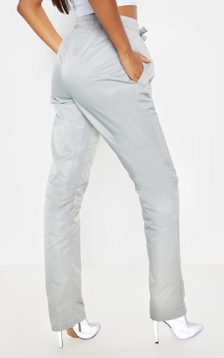Grey Shell Cuff Straight Leg Pants 2