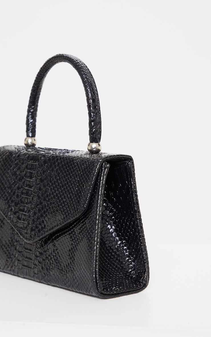 Black Croc Envelope Large Grab Bag 4