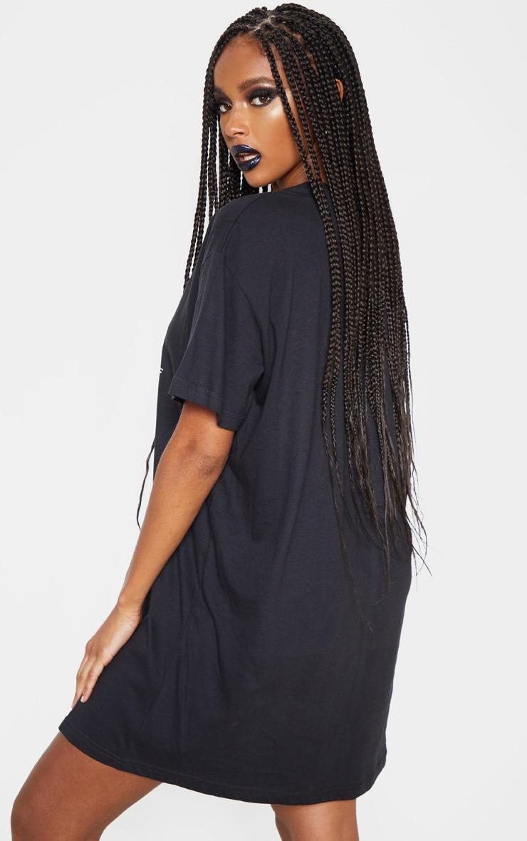 Black Beetlejuice Slogan T Shirt Dress 2