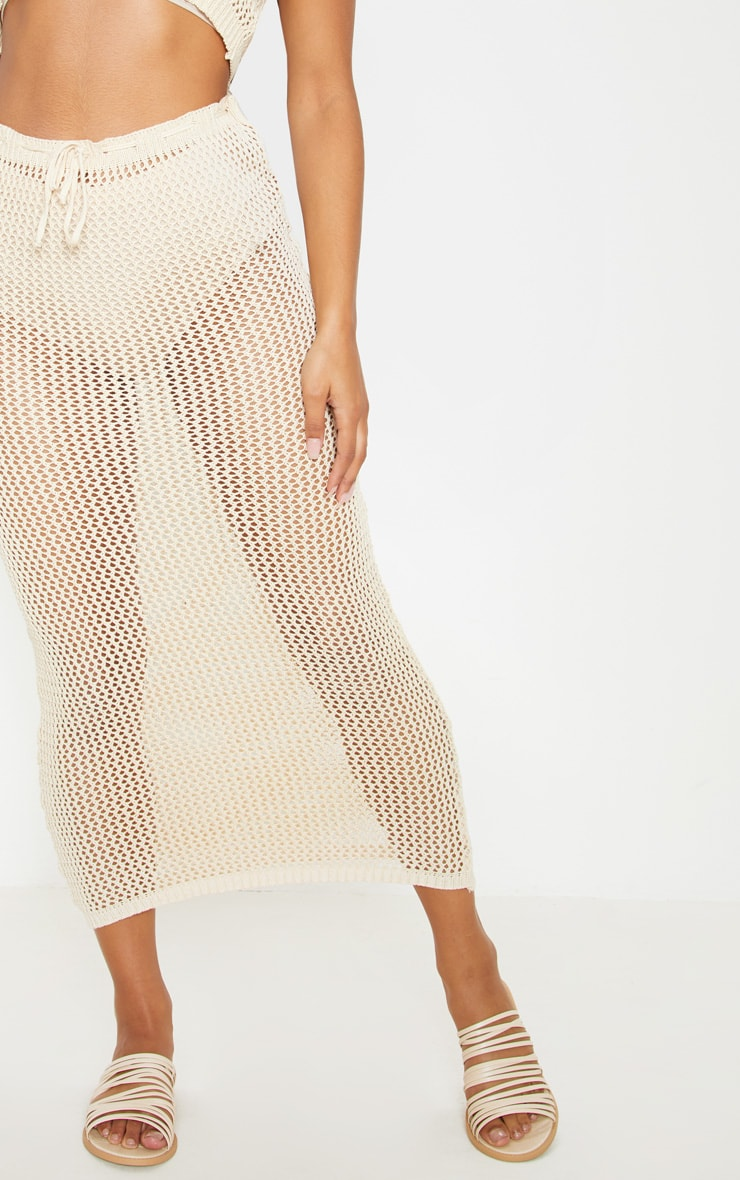 Stone Crochet Knit Maxi Skirt Co ord  5