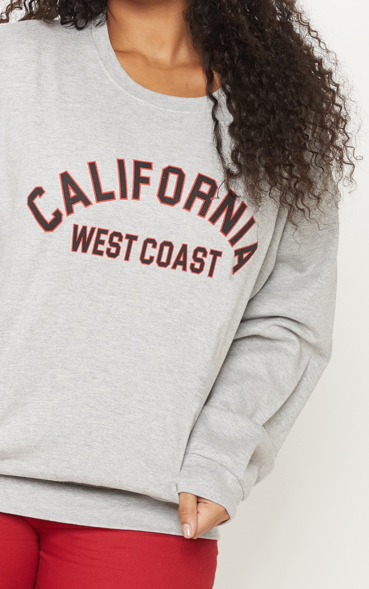 Plus Grey Marl California Oversized Sweater 5