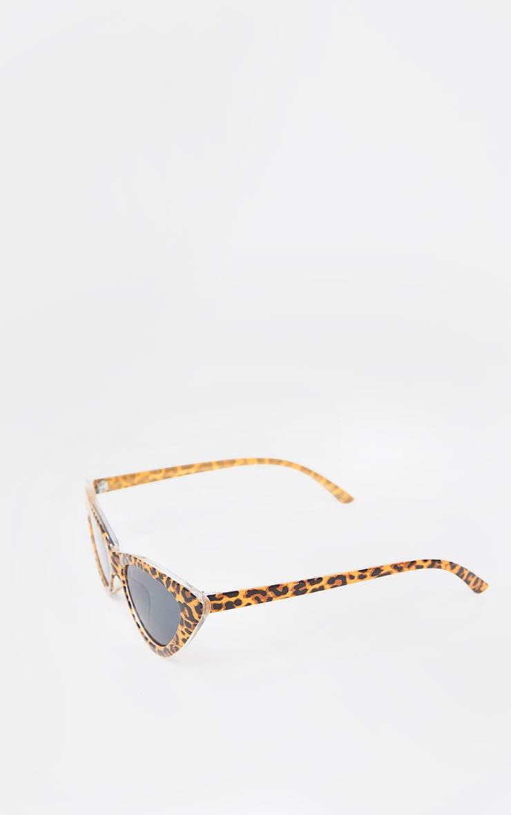 Tan Leopard Cat Eye Sunglasses 4