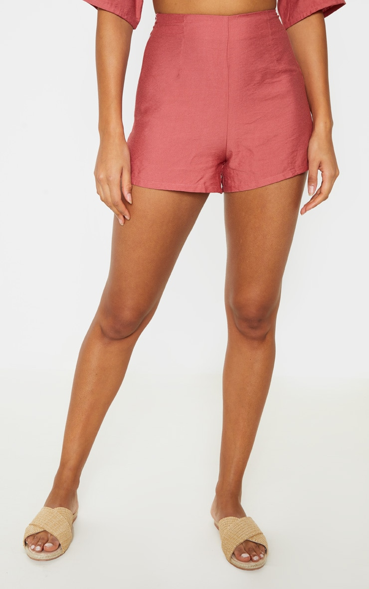 Rose High Waisted Shorts 2