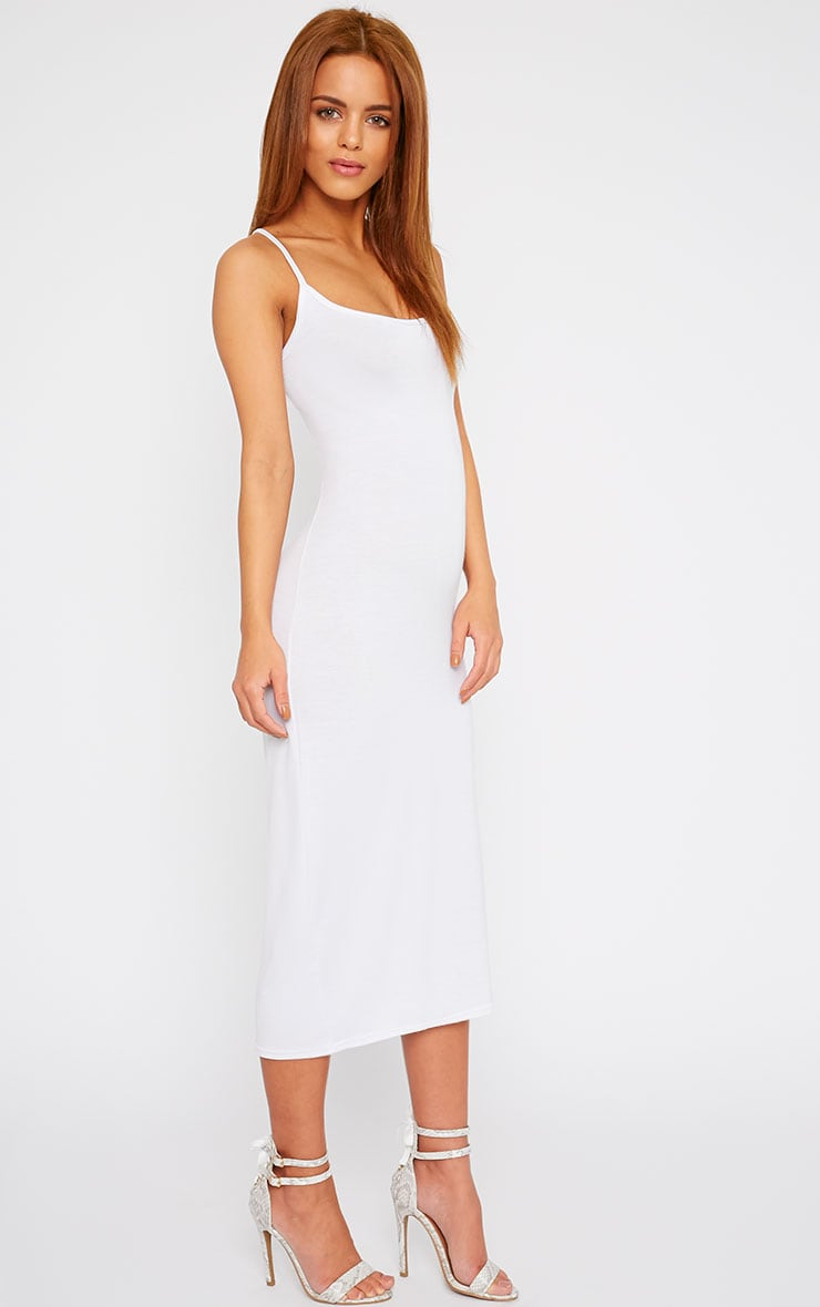 Basic White Midi Vest Dress 3