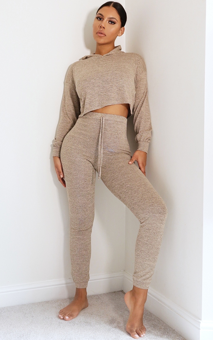 Stone Hooded Knitted Lounge Set 1