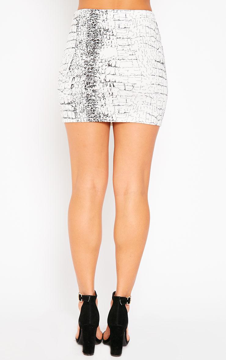 Emilia Snake Print Scuba Skirt 4