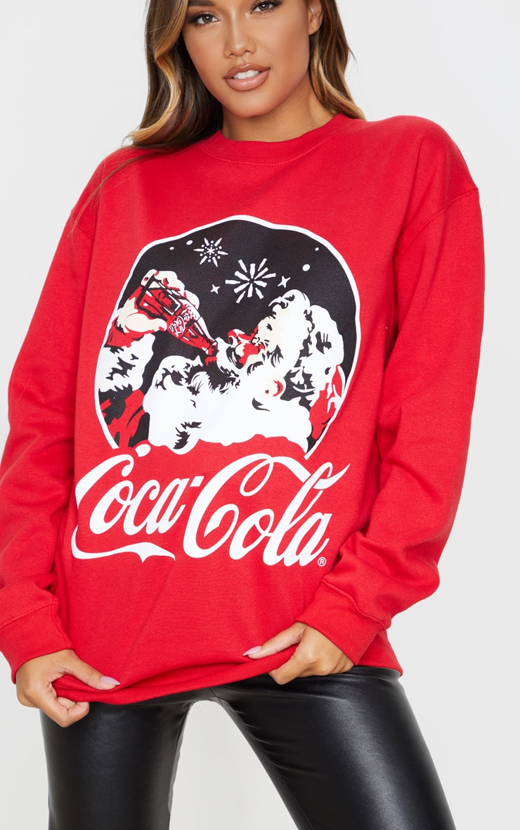 Red Coca Cola Christmas Printed Sweater 5